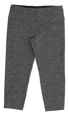 New Womens Footjoy Capri Leggings Medium M Gray MSRP $80
