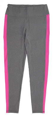 New Womens Footjoy Ankle Length Leggings Medium M Heather Charcoal/Rose MSRP $80 23909