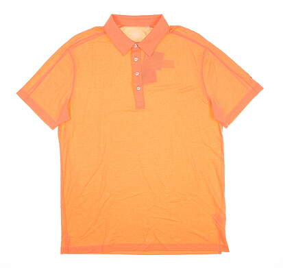 New Mens Puma Polo Large L Orange MSRP $59 571441 01