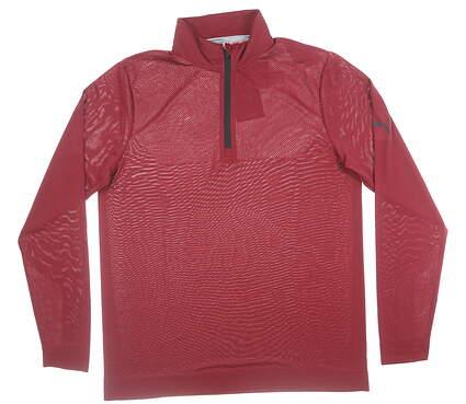 New Mens Puma Essential Evo 1/4 Zip Large Pomegranate MSRP $69 577405 04