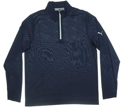 New Mens Puma Essential Evoknit 1/4 Zip Sweater XL Peacoat MSRP $69 577405 01