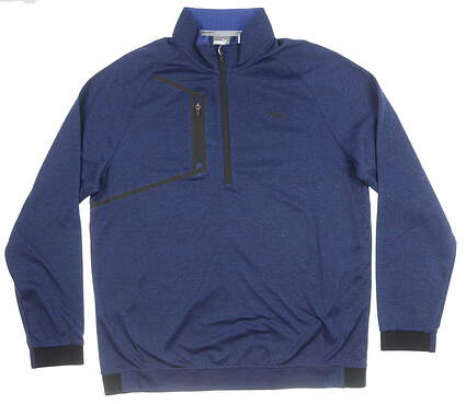 New Mens Puma Envoy 1/4 Zip Sweater XX-Large Sodalite Blue MSRP $69 576121 02
