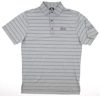 New W/ Logo Mens Footjoy Polo Small S Gray MSRP $78 25740