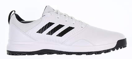 New Mens Golf Shoe Adidas CP Traxion Spikeless Medium 8.5 White/Black MSRP $80