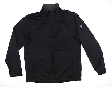 New W/ Logo Mens Level Wear Jacket Medium M Black MSRP $110