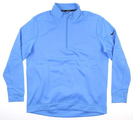 New Mens Nike 1/4 Zip Pullover Large L Blue MSRP $70 AR2600-412