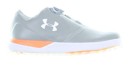New Womens Golf Shoe Under Armour UA Performance SL 8.5 Gray MSRP $130 1299943-036