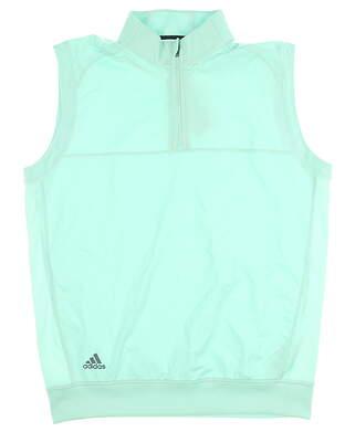 New Mens Adidas 1/4 Zip Vest Medium M Green MSRP $80
