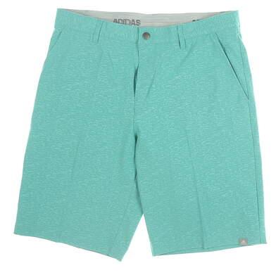 New Mens Adidas Golf Shorts 32 Green MSRP $65