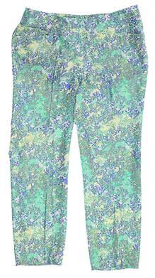 New Womens Adidas Pants Medium M Green/Blue/Yellow MSRP $80 CD6772