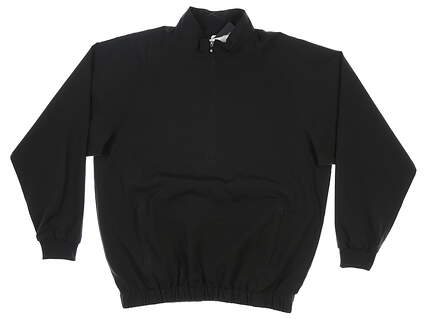 New Mens Footjoy 1/2 Zip Wind Shirt Small S Black MSRP $60 23505