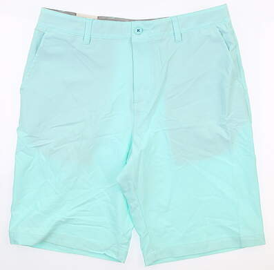 New Mens Adidas Adipure Golf Shorts 32 Light Blue MSRP $90