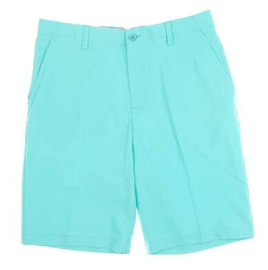 New Mens Adidas Golf Shorts 32 Teal MSRP $65