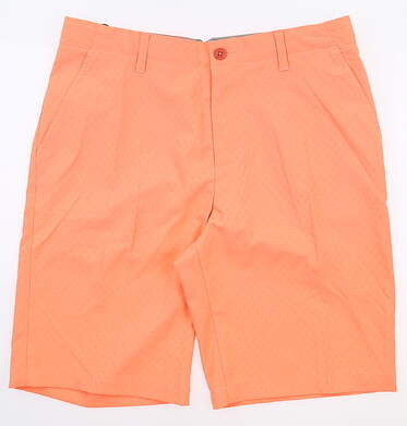 New Mens Adidas Golf Shorts 32 Orange MSRP $65