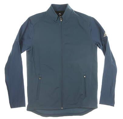 New Mens Adidas Full Zip Mock Neck Medium M Blue MSRP $100 CY7426
