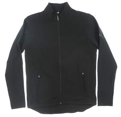 New Mens Adidas Full Zip Mock Neck Medium M Black MSRP $100 CY9364