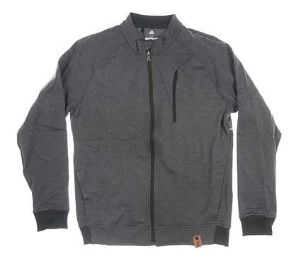 New Mens Adidas Full Zip Mock Neck Medium M Gray MSRP $100 CY9497