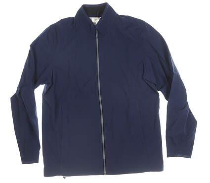 New Mens Adidas Wind Jacket Medium M Navy Blue MSRP $100 DT5326