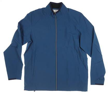 New Mens Adidas Wind Breaker Medium M Blue MSRP $110 CW6562