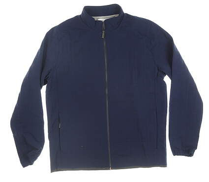 New Mens Adidas Adipure Quilted Jacket Medium M Navy Blue MSRP $100
