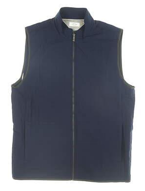 New Mens Adidas Adipure Quilted Vest Medium M Navy Blue MSRP $100 BC6915
