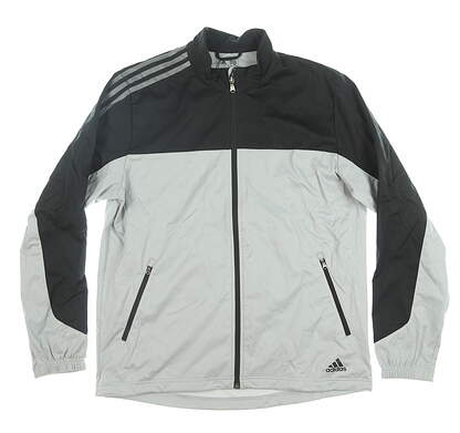 New Mens Adidas Jacket Medium M Gray/Black MSRP $90 BC6891