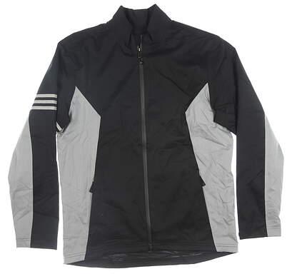 New Mens Adidas Jacket Medium M Gray/Black MSRP $90 CY7439