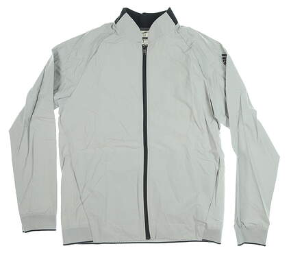 New Mens Adidas Jacket Medium M Gray MSRP $85 CF7775