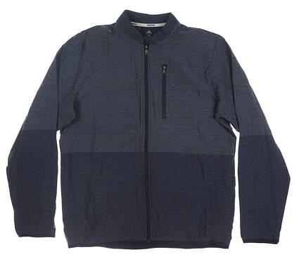 New Mens Adidas Jacket Medium M Navy Blue MSRP $85 DQ2260