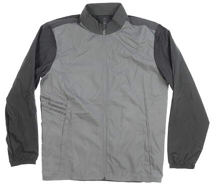 New Mens Adidas Wind Jacket Medium M Gray MSRP $65 CY9335