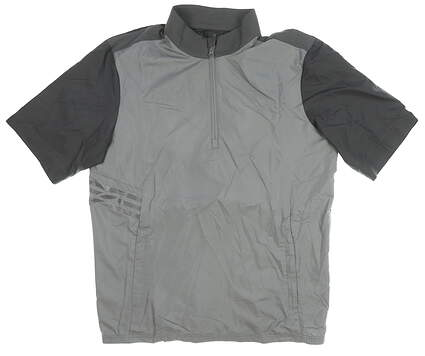 New Mens Adidas Rain Jacket Medium M Gray MSRP $65 CZ8500