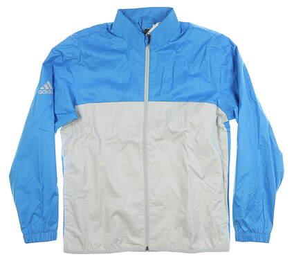 New Mens Adidas Jacket Medium M Gray/Blue MSRP $80 CY9285