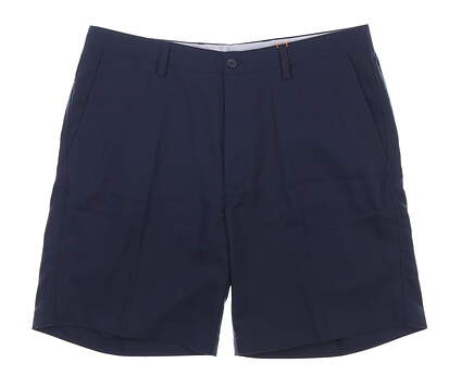 New Mens Fennec TEch Flat Front Golf Shorts 36 Navy Blue MSRP $90 000F600