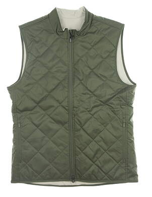 New Mens Nike Reversible Vest Medium M Green/ Tan MSRP $110 CK6074-222