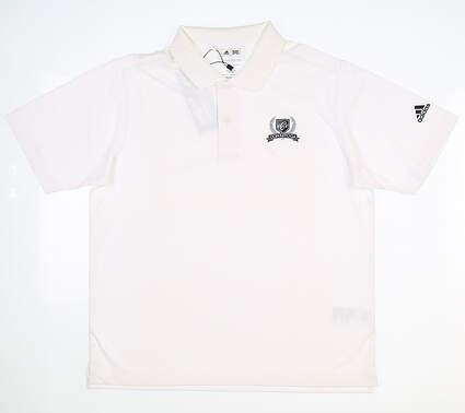 New W/ Logo Youth Adidas Boys Golf Polo Medium M White MSRP $45 B88658
