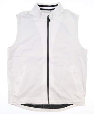 New Mens Cutter & Buck Vest Large L White MSRP $115 MCO00010