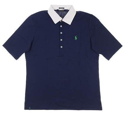 New Womens Ralph Lauren Golf Polo Large L Navy Blue MSRP $90