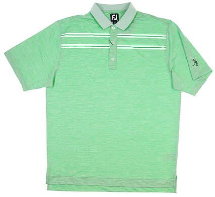 New W/ Logo Mens Footjoy Golf Polo Large L Kelly Green MSRP $85 26036