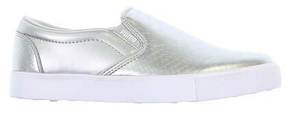 New Womens Golf Shoe Puma Tustin Slip On Medium 9 Silver MSRP $70 189424-03