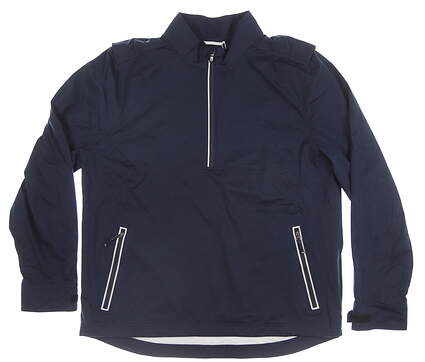 New Mens Cutter & Buck Fairway 1/2 Zip Jacket Large L Navy MSRP $170 MCO00011