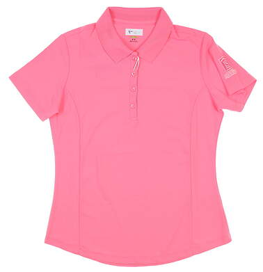 New W/ Logo Womens Greg Norman Sleeveless Polo Small S Pink MSRP $39