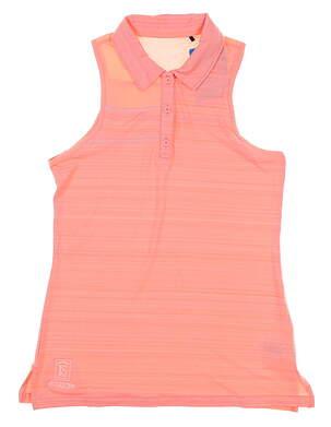 New W/ Logo Womens Columbia Omni-Wick Breeze Sleeveless Polo Small S Pink MSRP $50
