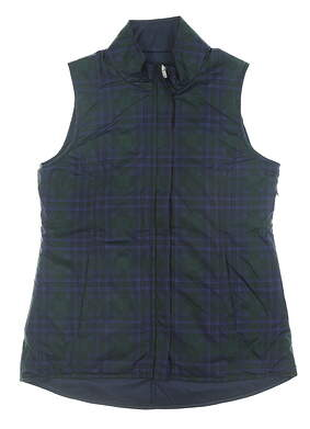 New Womens Peter Millar Reversible Golf Vest Small S Multi MSRP $169 LF19EZ01G