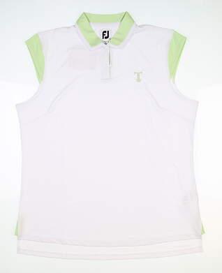 New W/ Logo Womens Footjoy Sleeveless Polo X-Large XL Multi MSRP $70 27466
