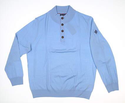 New W/ Logo Mens Ralph Lauren Sweater X-Large XL Blue MSRP $120