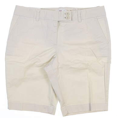 New Womens Vineyard Vines Dayboat Bermuda Shorts 8 Stone MSRP $88