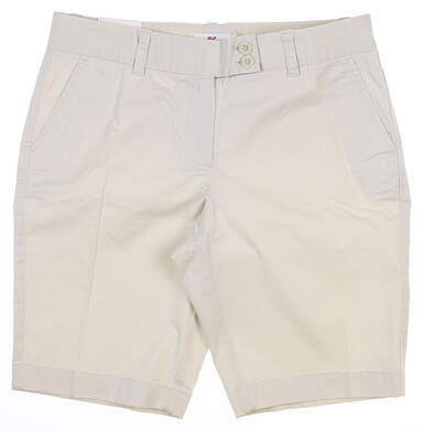 New Womens Vineyard Vines Dayboat Bermuda Shorts 10 Stone MSRP $88