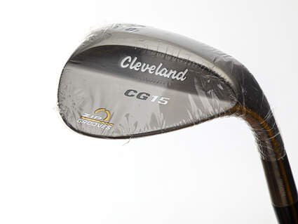 Mint Cleveland CG15 Black Pearl Wedge Sand SW 54° 10 Deg Bounce Dynamic Gold SL S300 Steel Stiff Right Handed 37.5in