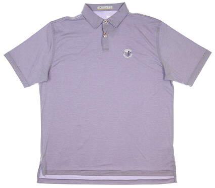 New W/ Logo Mens Peter Millar Golf Polo X-Large XL Purple MSRP $98 MS20EK91S