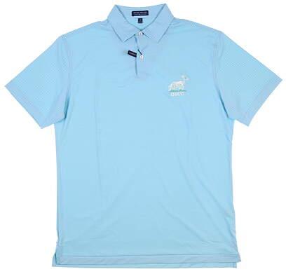 New W/ Logo Mens Peter Millar Golf Polo Medium M Blue MSRP $98 MS20EK506S
